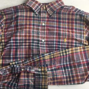 Ralph Lauren mens plaid shirt button down large